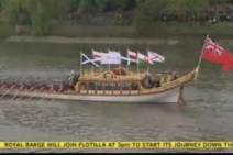St Piran's Flag on Royal barge