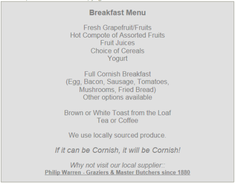 If it can be Cornish it Will be Cornish