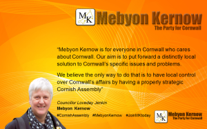 Loveday Jenkin Mebyon Kernow for those who care for Cornwall